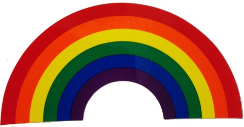 Rainbow arch sticker